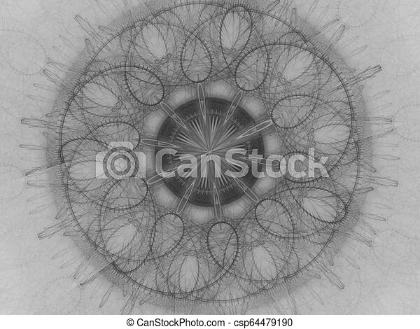 Unique kaleidoscope design. abstract fractal mandala illustration with kaleidoscopically pattern. Abstract background for design - csp64479190