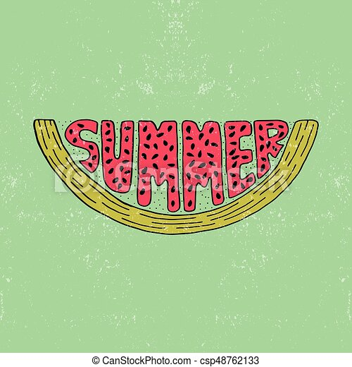 unique lettering poster with a word summer vector art trendy