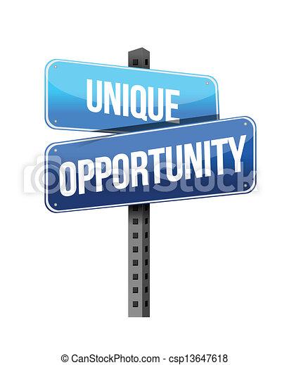 unique opportunity sign - csp13647618