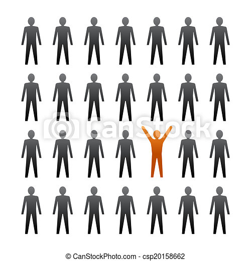 unique person in the crowd vector illustration rh canstockphoto com crown clipart simple crown clipart