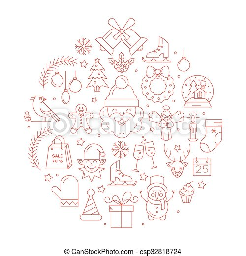 Unique Vector Concept With Different Christmas And New Year
