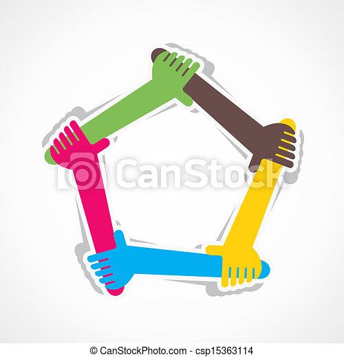 unire, sostegno, lavoro, mano, ciascuno, squadra, o - csp15363114