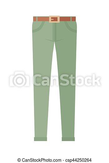 Pantalones de pantalones unisex aislados en fondo blanco - csp44250264