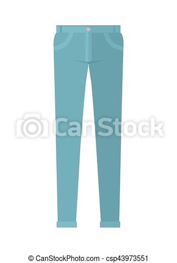 Pantalones de pantalones unisex aislados en fondo blanco - csp43973551