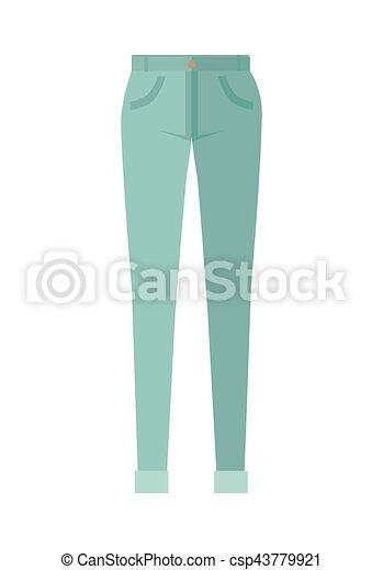 Pantalones de pantalones unisex aislados en fondo blanco - csp43779921