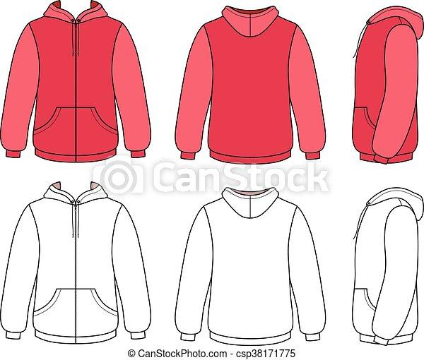 Unisex hoodie template - csp38171775