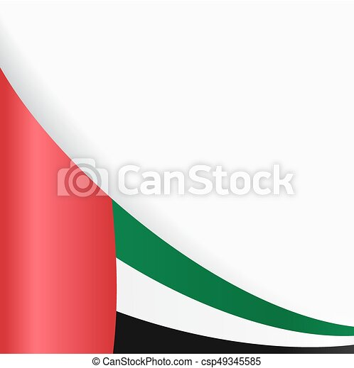 United Arab Emirates flag background. Vector illustration. - csp49345585