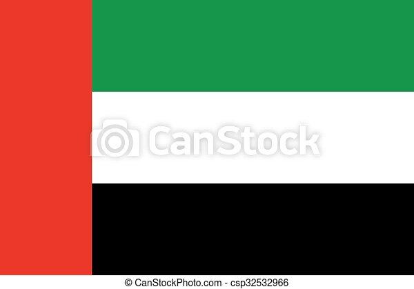 United Arab Emirates Flag - csp32532966
