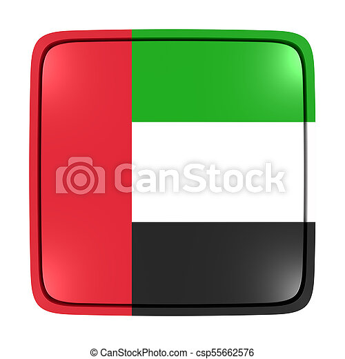 3d rendering of an united arab emirates flag icon isolated on white