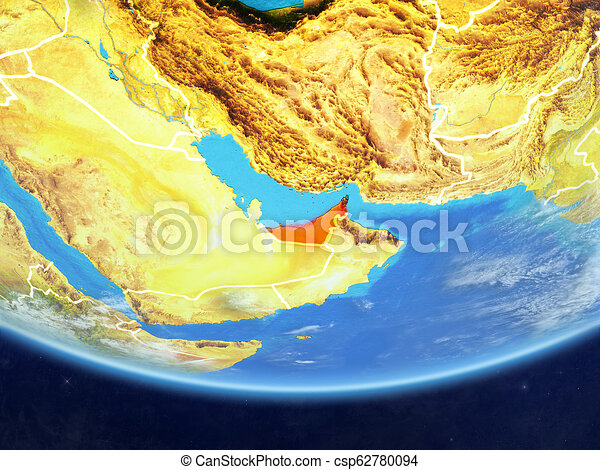 United Arab Emirates from space on Earth - csp62780094