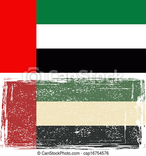 United Arab Emirates grunge flag - csp16754576