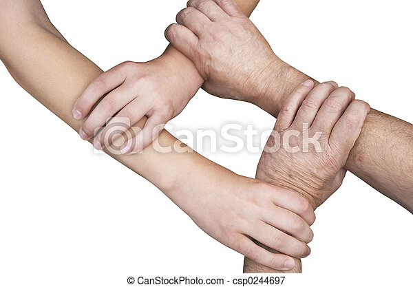 united hands isolated - csp0244697