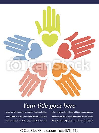 United hands vector.  - csp6764119
