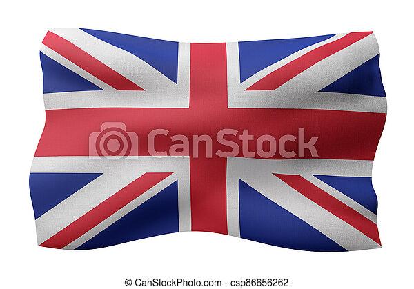 United Kingdom 3d flag - csp86656262