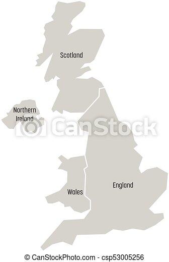 Ireland And Northern Ireland Map.United Kingdom Aka Uk Of Great Britain And Northern Ireland Map