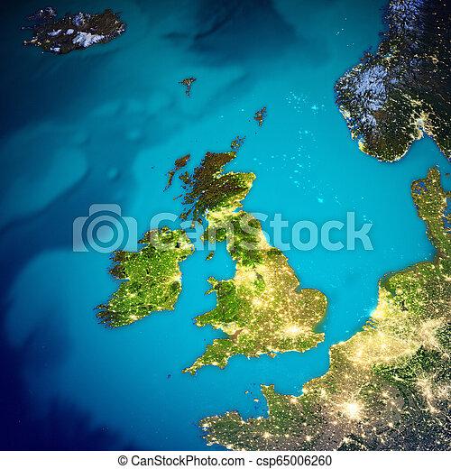 United Kingdom and Ireland map - csp65006260