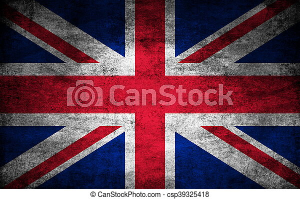 United Kingdom dark flag texture - csp39325418