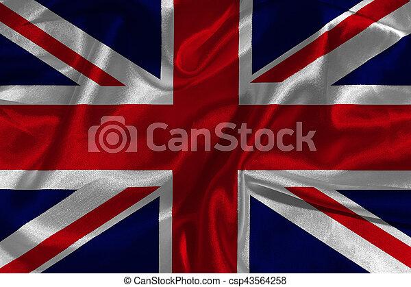 United Kingdom flag 3D illustration symbol. - csp43564258