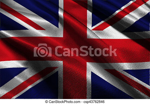 United Kingdom flag 3D illustration symbol. - csp43762846