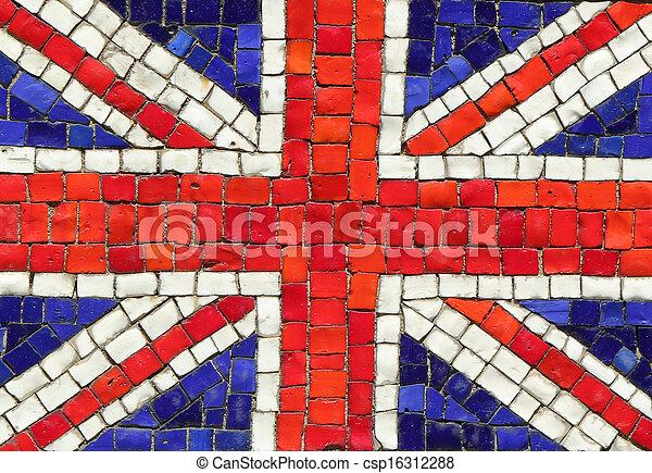 United Kingdom Flag in Mosaic - csp16312288