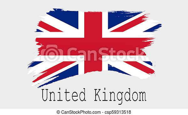 United Kingdom flag on white background - csp59313518
