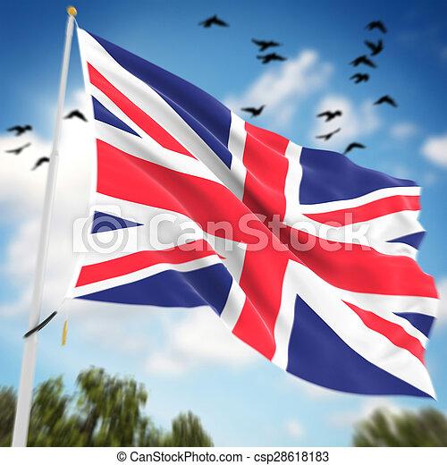 United Kingdom Flag - csp28618183
