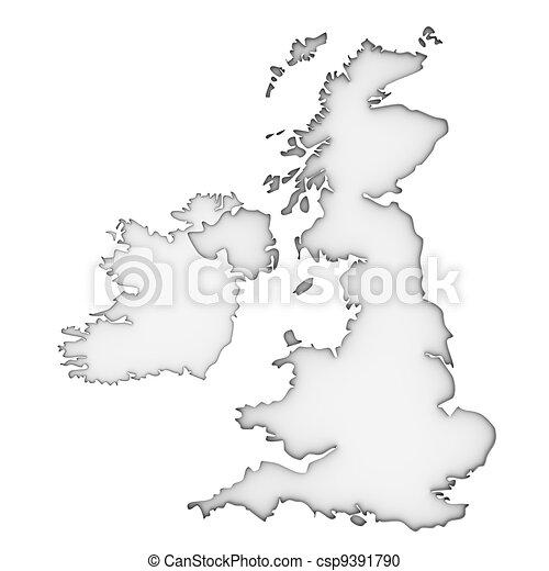 United Kingdom map - csp9391790