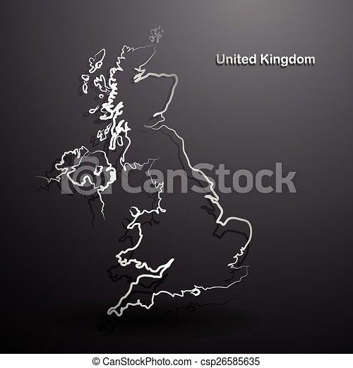United Kingdom map - csp26585635