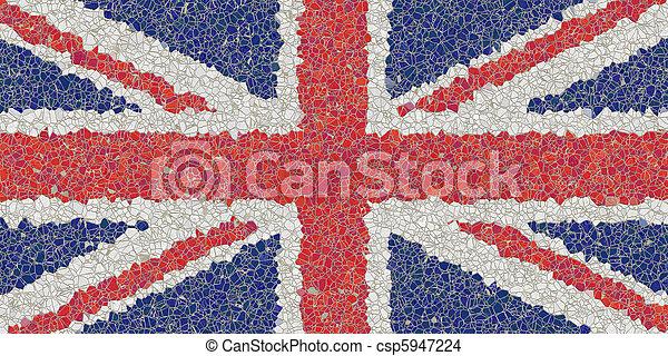 united kingdom mosaic - csp5947224