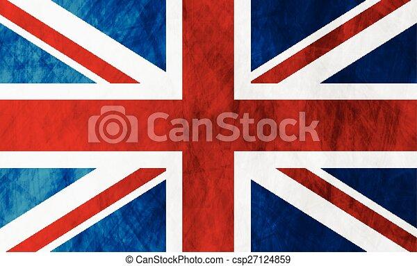 United Kingdom of Great Britain grunge flag - csp27124859