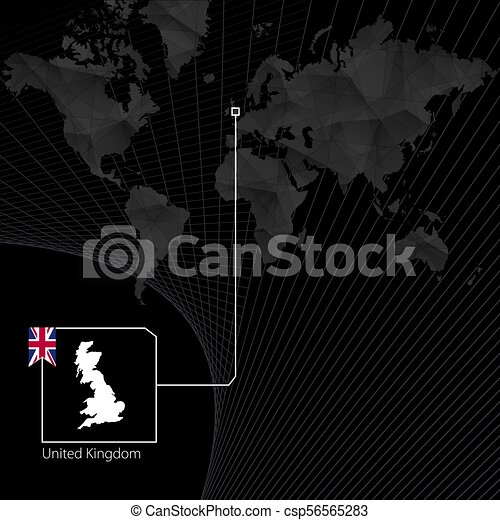 United Kingdom on black World Map. Map and flag of UK. on israel in the world map, liberia in the world map, taiwan in the world map, croatia in the world map, jersey in the world map, costa rica in the world map, west indies in the world map, eiffel tower in the world map, india in the world map, bahrain in the world map, kiribati in the world map, abu dhabi in the world map, japan in the world map, bermuda in the world map, fiji in the world map, colombia in the world map, sudan in the world map, falkland islands in the world map, myanmar in the world map, dominican republic in the world map,