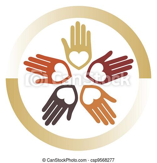 United loving hands vector.  - csp9568277