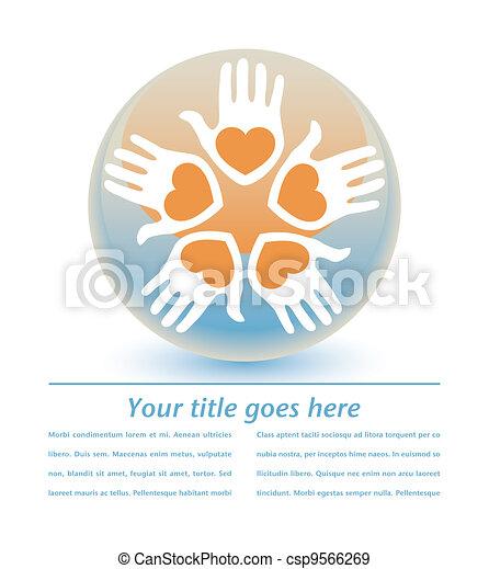 United loving people design. - csp9566269