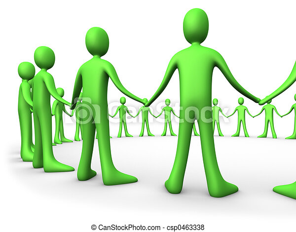 United People - Green - csp0463338