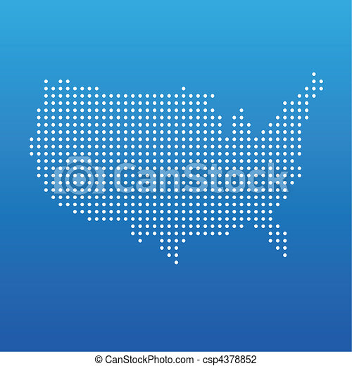 United States Dot Map United States Pop Art Map