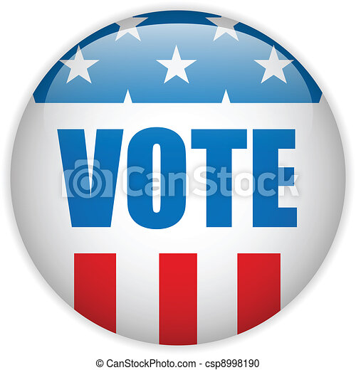 United States Election Vote Button. - csp8998190