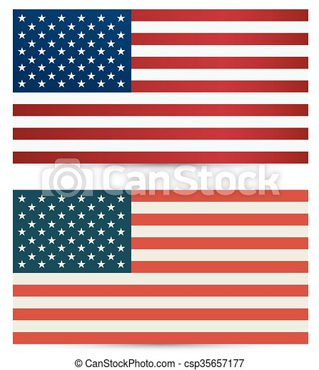 United States Flag Usa Flag American Symbol Vectors Illustration