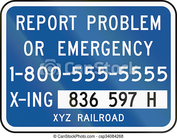 United States MUTCD road sign - Emergency number - csp34084268