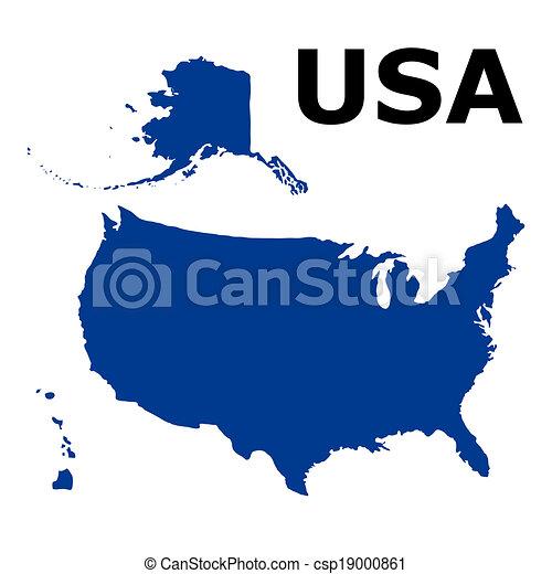 United States of America Map - csp19000861