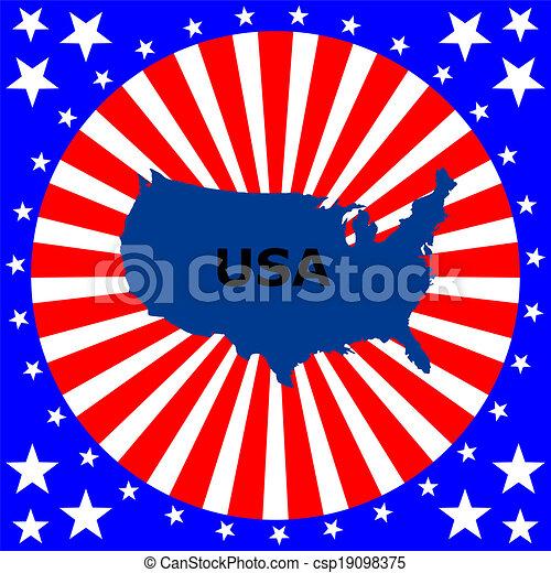 United States of America Map - csp19098375