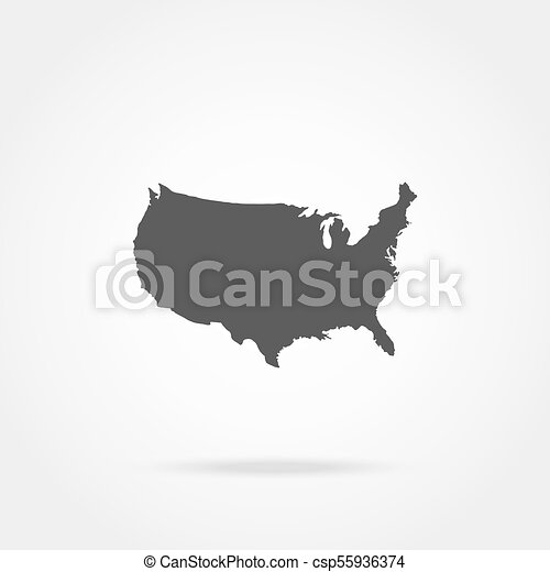 United states of america map ,vector icon.