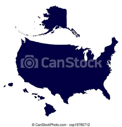 United States of America Map - csp19780712