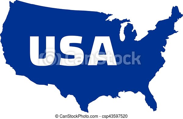 united states of america map with name vector illustration search rh canstockphoto com us map clip art editable usa map clip art free