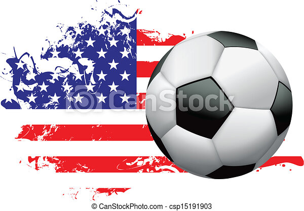 United States Soccer Grunge Design - csp15191903