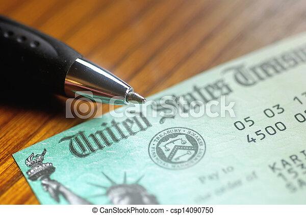United States Treasury Check - csp14090750