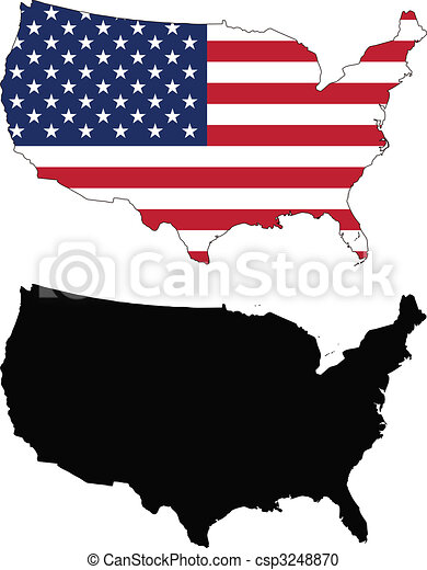 vector map and flag of united states with white background united states clip art flag shape united states clip art image