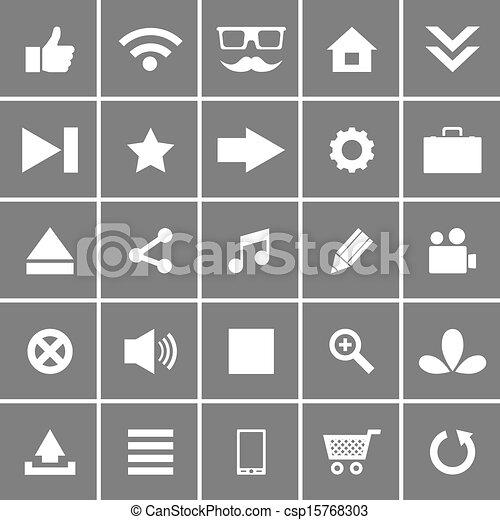 Universal Flat Vector Icons Set 1 - csp15768303