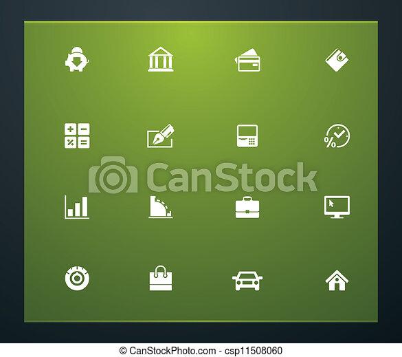 Universal glyphs 21. Banking - csp11508060