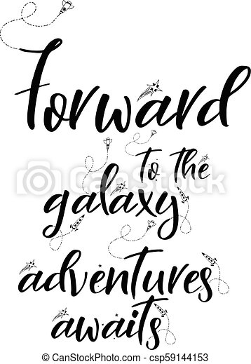 Universe Quote On Vector Background Handwritten Card Forward To The