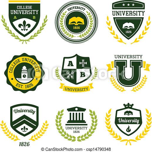 Crestas universitarias y universitarias - csp14790348
